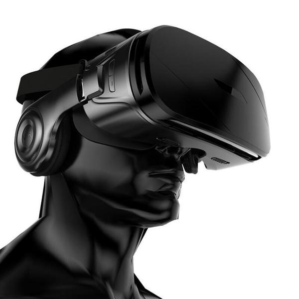G300 VR BOX Super Bass 3D VR Brillen Box Headset für 4,5-6,2 Zoll IOS Android mit speziellem Griff + C8 Smartphone Game Controller mit Paket