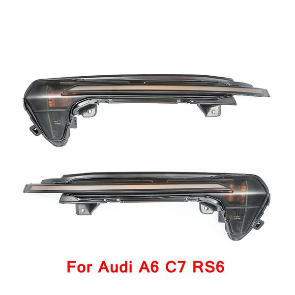 2 pieces for Audi A6 C7 RS6 line Dynamic Blinker Side Mirror Light LED Turn Signal Light 2013 2014 2015 2016 2017
