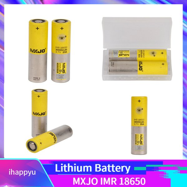 top popular 2019 MXJO IMR 18650 3000mah Lithium Battery High Drain Rechargeable Clone Battery for 510 thread Box Mod 3.7V 35A Fedex Free Shipping 2019