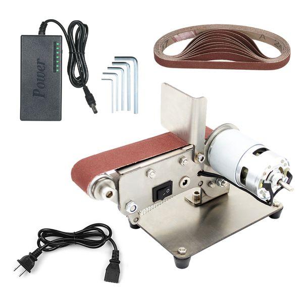 top popular Folding Belt Sander Multi-function Belt Sand Machine Mini Electric Grinder Small Grinding Wheel Machine 775 795 895 Motor 2021