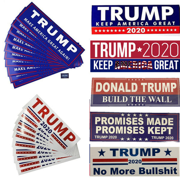 best selling Donald Trump Car Stickers US President Car Bumper Sticker Letters Keep America Great Trump 2020 Stickers Universal Vehicle Accessories B5601