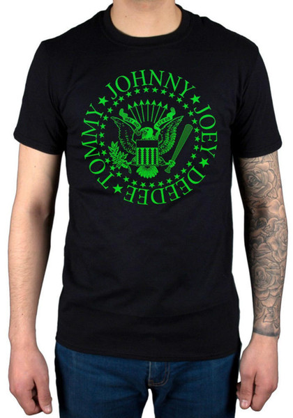 Ramones Green Seal T-Shirt Johnny Joey Deedee Tommy Mondo Bizzaro