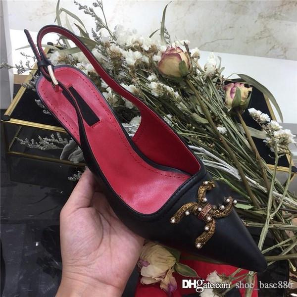 2019 A principios de la primavera, las nuevas sandalias para mujer, zapatos de piel de vaca, sandalias de cuero con suela grande y tacones medios perfectas.