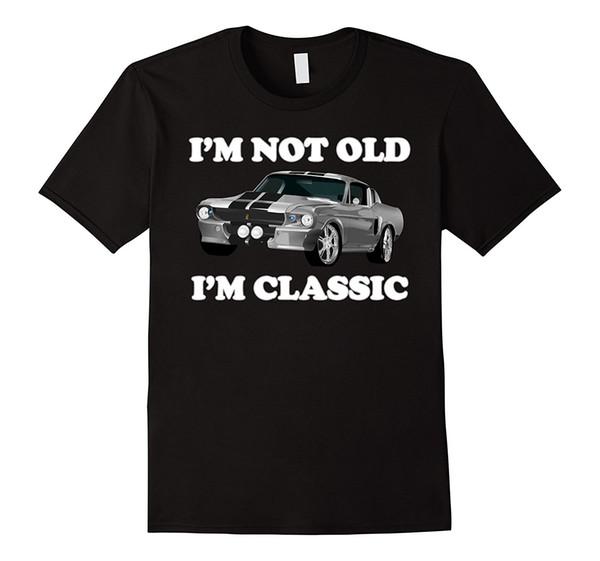 Je ne suis pas vieux, je suis classique American Muscle Car Horsepower Shirt Hommes 2019 Brand Clothing Tees Casual Top Tee T-shirt Homme / Garçon