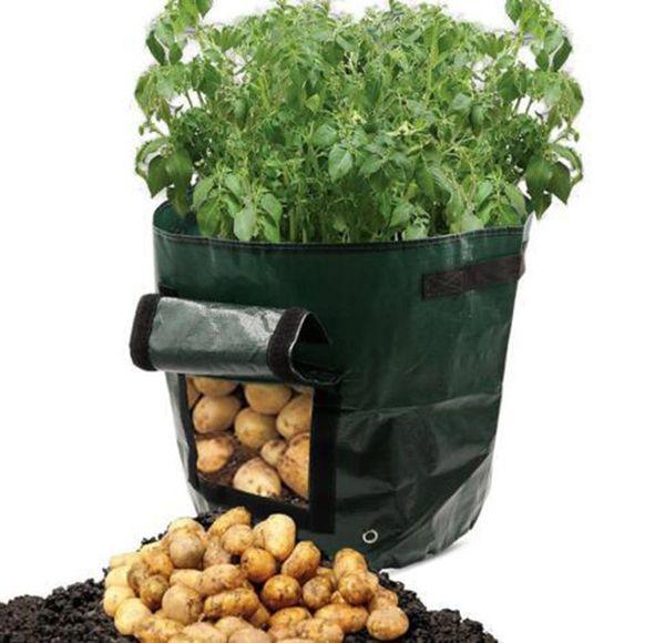 New PE Bags Potato Planting Family Garden Balcony Garden Pots of Organic Vegetables Potatoes Planters Grow Bag