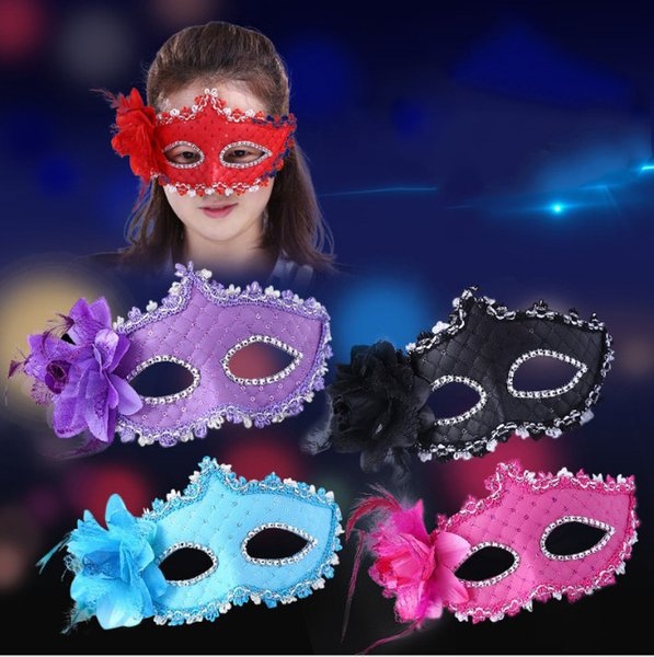 New 5 Color Flower Leather Halloween Mask Sexy Masquerade Masks Dance Party Bar Venice Princess Mask High-grade Rose Party Mask Supplies