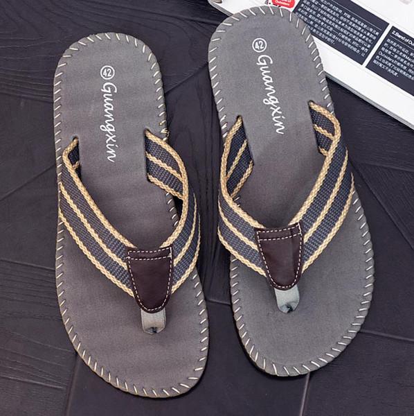 2019 New Summer Flat Sandals and slippers Balham Leisure Soft Flip Flops VA Beach Slipper and Sandals For Mens
