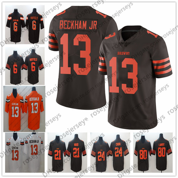 separation shoes a9ff0 75e0f Cleveland Browns 6 Baker Mayfield 21 Denzel Ward Jersey 80 ...
