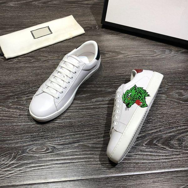 New Fashion Uomo scarpe firmate di lusso per donna con vera pelle di alta qualità oro rosso strisce blu ace sneakers rosso bianco tian