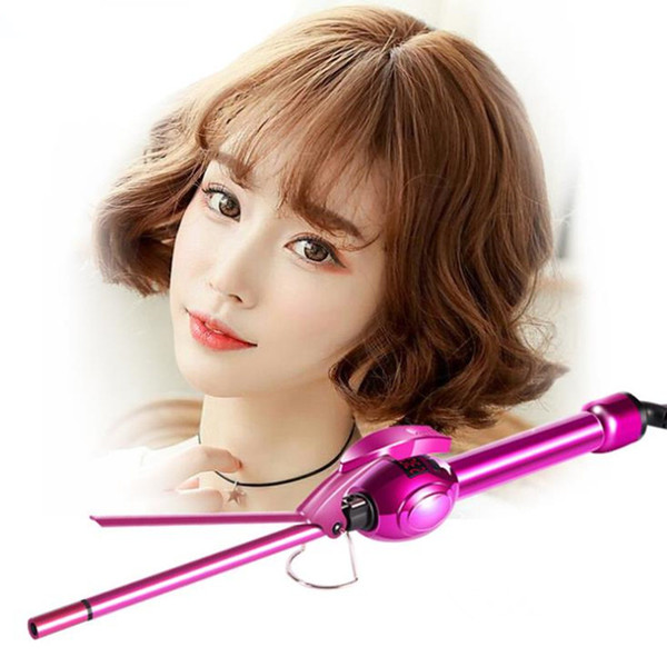 LCD Display Curling Iron Professional Hair Curler Rotation Curl Wand Stick Roller Magic Ceramic Hairdressing Styling Tool F2555