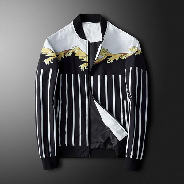 Chaqueta para hombre Chaquetas de diseño de lujo Patrón de cebra de moda Imprimir Hombres Otoño Invierno Abrigos con cremallera Ropa de abrigo casual