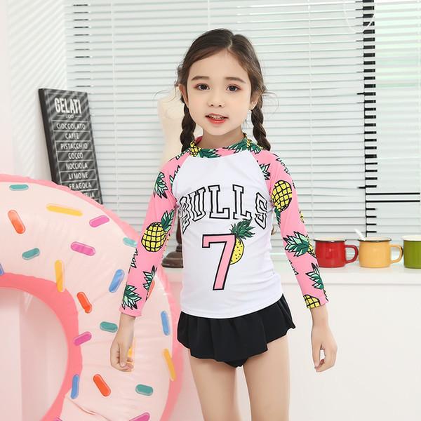 Swimsuit For Girls Kids 2019 Swimwear Girl Swimming Suit Bathing Suits Child Female Bikini Pineapple Cute Children Korean Split