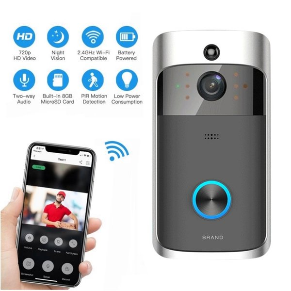 M3 Wireless Video Doorbell Camera Ring Door Bell Two Way Audio APP Control  WIFI Remote Home Security HD Visible Monitor Hd Cam Wireless Video Camera