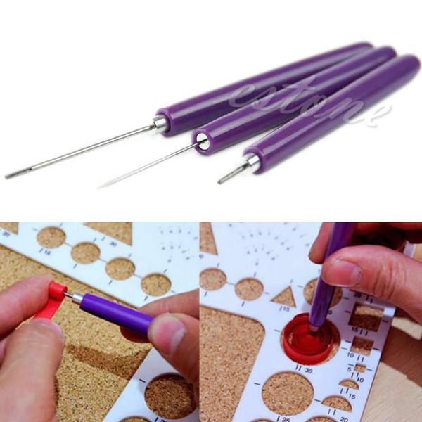 3шт / Set Paper Квиллинг Инструменты Ориги DIY - 2 Ассорти игла 1 Щелевые Инструмент # 1