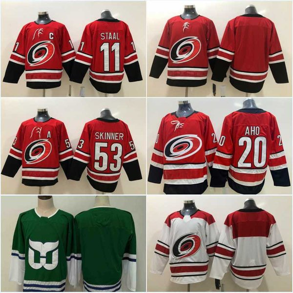 separation shoes aef37 13b34 2019 Men 20 Sebastian Aho 53 Jeff Skinner Jersey New Season 11 Staal  Carolina Hurricanes Jersey Green Blank Hockey Jerseys Cheap From  Line_to_line, ...