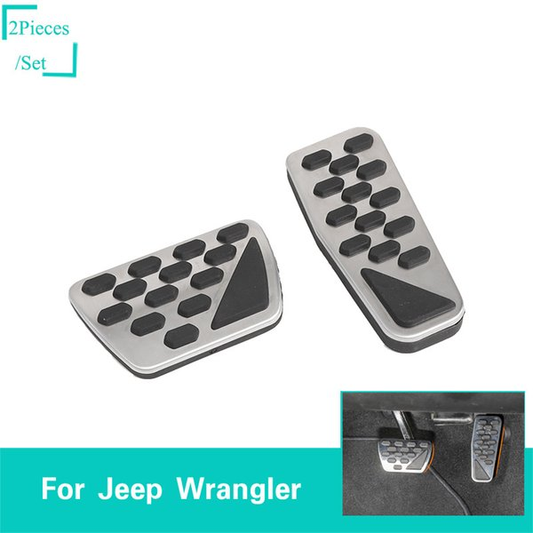 Copertura della decorazione del pedale del freno del freno della lega di alluminio / gomma per Jeep Wrangler JL 2018+ Accessori interni dell'automobile