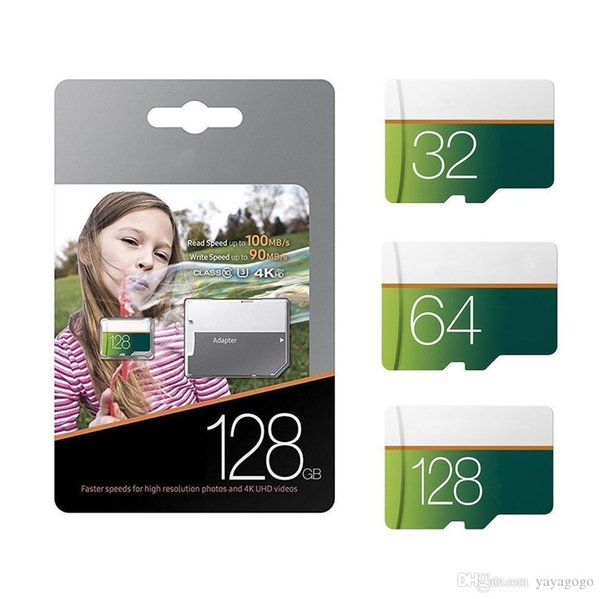 Top qualité en gros EVO Select 128 Go 64 Go 32 Go 16 Go microSDXC UHS-I Carte classe 10 U3 Micro SD TF carte mémoire avec adaptateur plus rapide délais
