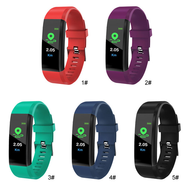 Smart Bracelet ID115 Plus Fitness Tracker Smart Watch Heart Rate Watchband Smart Wristband For Apple Android Cellphones with Box