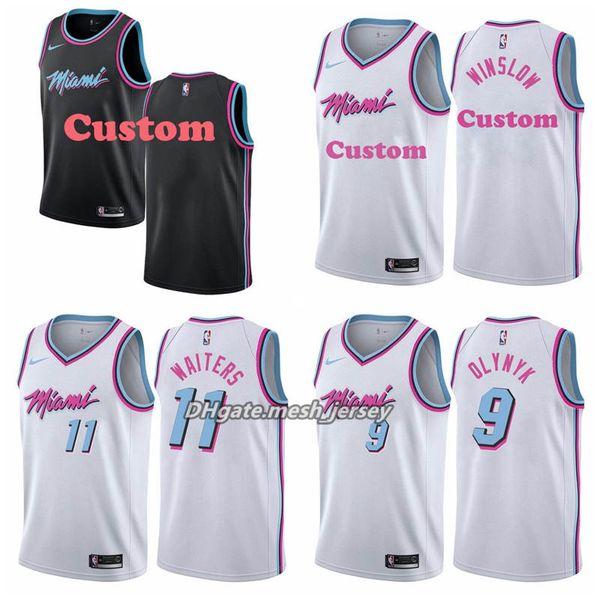 Neue benutzerdefinierte Netze Männer Wärme Name und Nummer Jersey 3 Wade 10 Hardaway 40 Haslem 33 Trauer Basketball City Jersey Edition