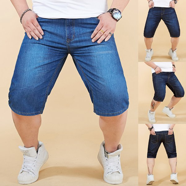 Men Summer Jeans Hommes Shorts Skate Board Harem Fashion Jean Plus Size 28-48 Hip Hop Sweatpants Skinny Motorcycle Denim Pants