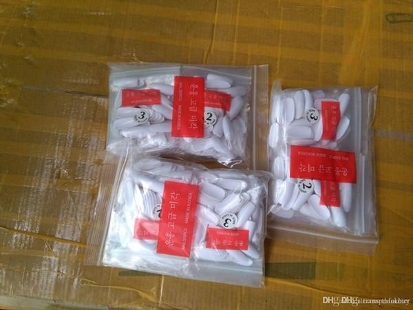 Bouts de 500 clous ovales Bouts de couleur blancs Fullwell ronds Bouts de faux ongles artificiels en gros SKU: A0013