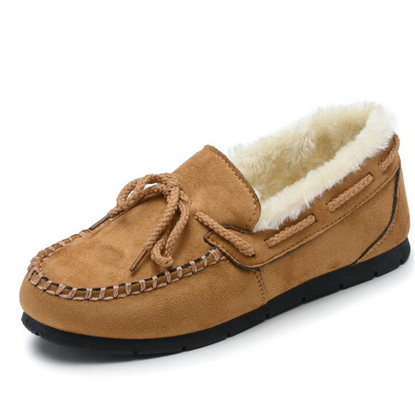 high quality Winter boots women slip plush velvet fur warm boots ankle snow boots 2019 new lace-up shoes X48