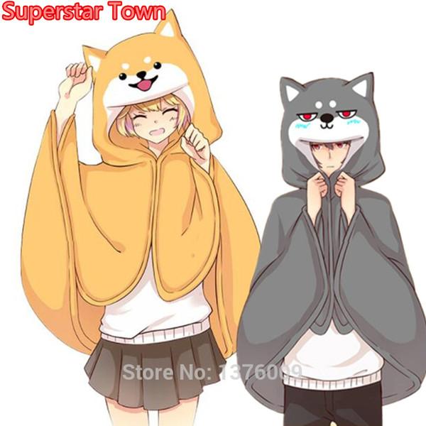 Costume di Halloween Harajuku Style mantello Kawaii ragazze Shiba Inu Doge con cani da Cosplay del Capo animale bella Anime Homewear Donne BoyMX190923 uomini