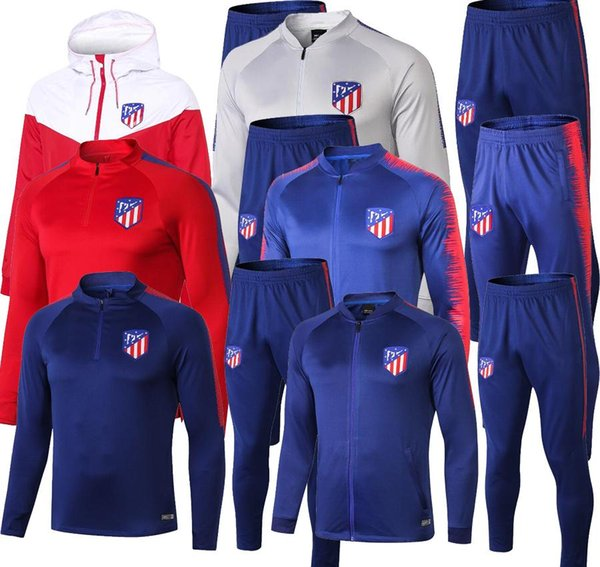 top popular Top quality Atletico training suit Atletico soccer tracksuit Training suit 18 19 20 GRIEZMANN FTORRES KOKE Madrid football jacket 2019