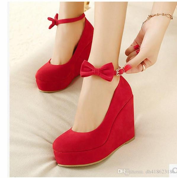 Güzel Yüksek Topuklu Kadın Elbise Ayakkabı Bayanlar Düğün Ayakkabı Platformu Ayakkabı QDX39 Giymek