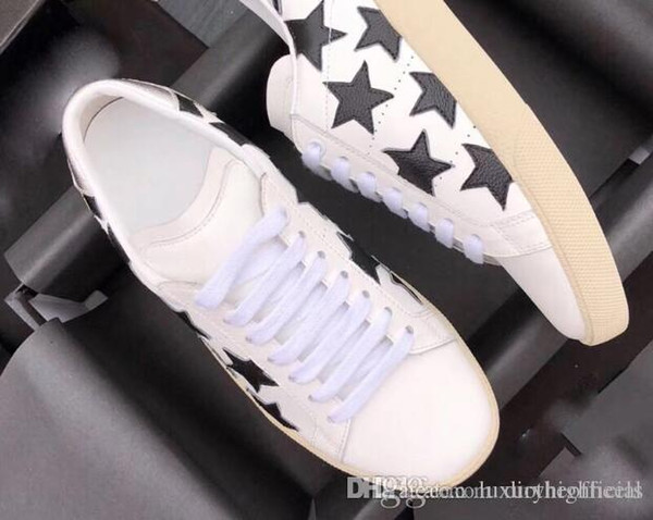 2018 Luxury brand couple designer sneakers face plate soft cow leather rainbow stripe laser white-collar work thick sole shoes