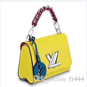 Womens LVLV Twist Handtasche Marke Mode Luxus Designer Lady Bag Weihnachten Epi Leder Handtaschen Umhängetaschen TWIST PM M51824 Kartenhalter