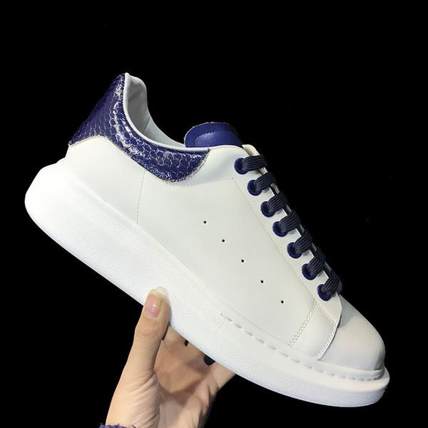 2019 Yeni erkek kadın Moda Lüks Beyaz Siyah Yılan Derisi Deri Platform Ayakkabı Düz Rahat Ayakkabılar Sneakers Zapatillas Sıcak satışa