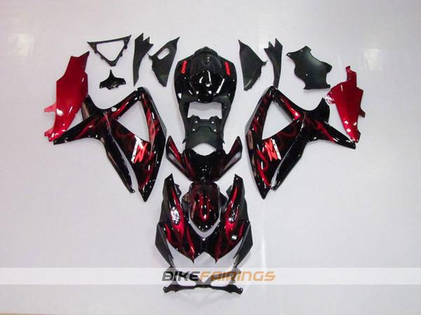 3gift new ab motorcycle bike fairing kit fit for uzuki g xr600 g xr750 k8 2008 2009 2010 08 09 10 bodywork et red flame