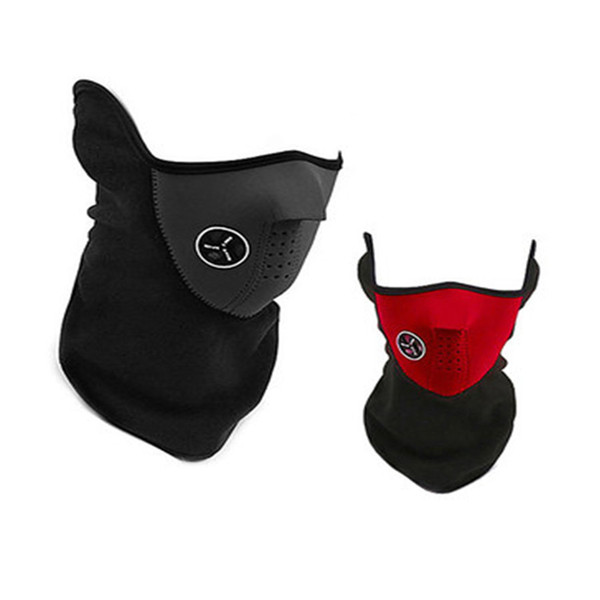 Warm Bicycle Ski Half Face Mask Cover Fleece Facemask Hood Protection Winter Outdoor Sports Bike Neck Guard Scarf Warmer Mask