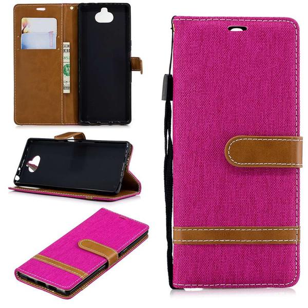 Für sony xperia 10 sony xz1 compact xz premium l2 case flip stand wallet cowboy leder bilderrahmen telefon abdeckung für samsung