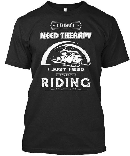 Круто, я не нуждаюсь в терапии - не просто ехать Stylisches 2019 года Горячие Продажа Хлопок Фирменная рубашка Летние футболки с принтом смешно
