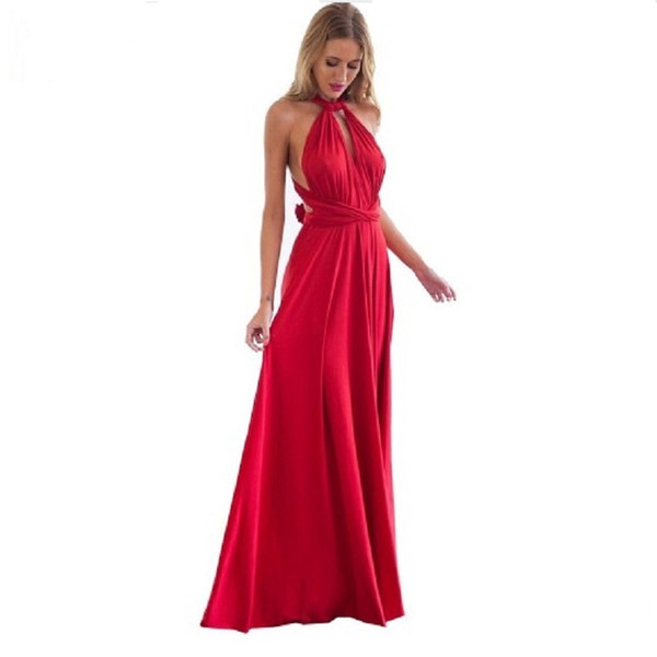 Ladies Sexy Women Maxi Club Dress Bandage Long Party Multiway Swing Dress Convertible Infinity Robe Bridesmaids Boho Women Dress Q190409