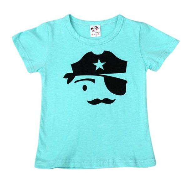 Summer 2019 Fashionable Kid Clothes T-shirt For Boy Infant Baby Boy Face Printed Short Sleeve T-shirt Boys Tops camiseta J10#3