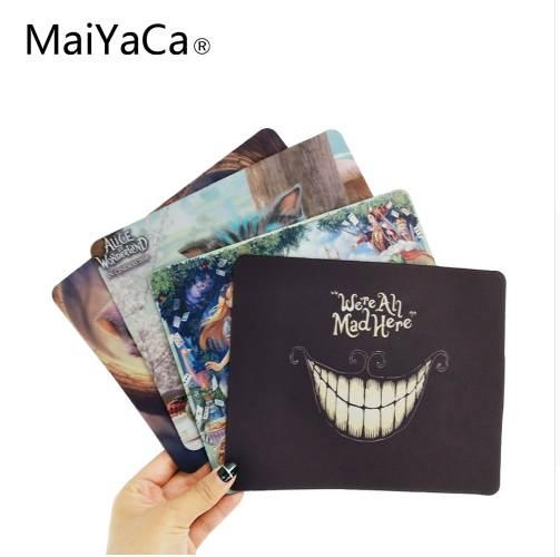 top popular MaiYaCa Alice in Vonderland, Cheshire Computer Mouse Pad Mousepads Radiation Non-Skid Rubber Pad 2021