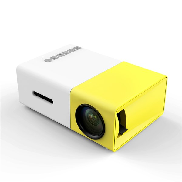 Portable Mini LCD LED Projector YG300 YG-300 400-600LM 1080p Video 320 x 240 Pixel Best Home Wireless Remote Control Proyector