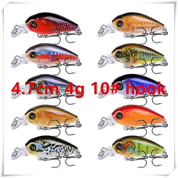 4.7cm 4g 10# hooks