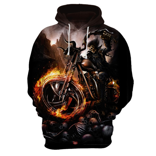 Fashion Outwear Skeleton motorcycle cool Skull 3D Printed Hoodies Men Women Sweatshirts Pullover Brand Qaulity Tracksuits Coats