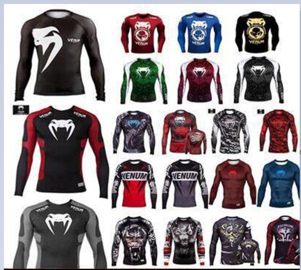 Hot Snake Mma Rashguard Boxing Long Sleeve T shirt Muay thai Gi Jiu Jitsu  Rash Guards Tops Bjj Men Kickboxing Jerseys mma shirt
