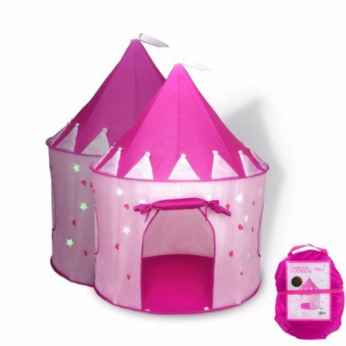 Cute Solid Pink Girls Funny Playhouse Kids Play Tent Pop Up Portable Children Doll House Pink Princess