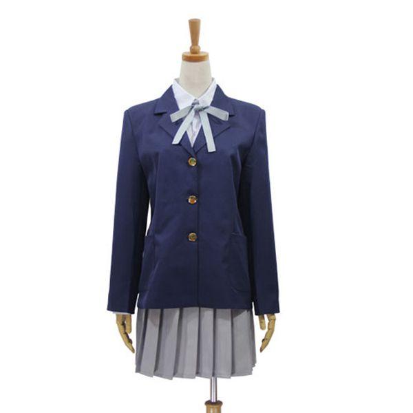 K-ON Hirasawa Yui Akiyama Mio Cosplay Costumes Girls School Uniform Dress Women Halloween Cosplay Party Outfit (Blazer + Shirt + Necktie)