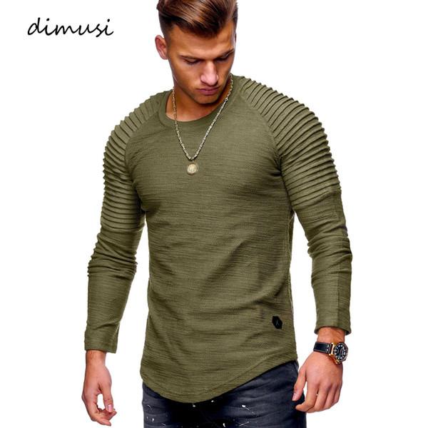 DIMUSI Summer Mens T Shirts Men Long Sleeve Sweatshirt T Shirt Fashion Mens Hip Hop Streetwear Sportswear Tracksuit Tops Tees