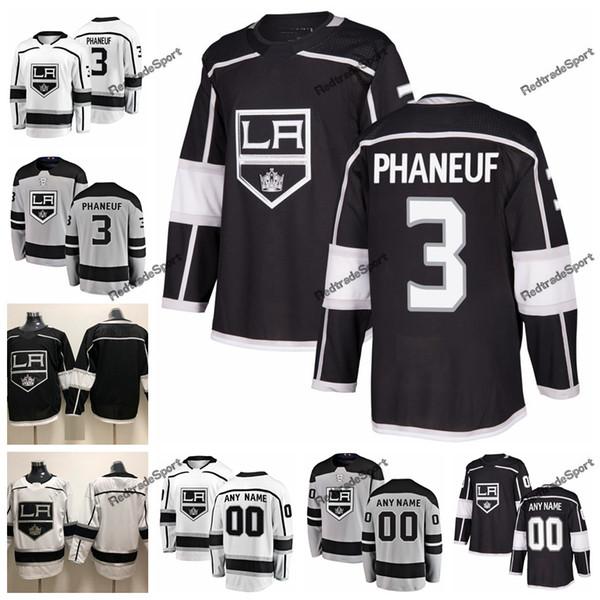 2019 Nouveaux substituts des Kings de Los Angeles Dion Phaneuf Chandails de hockey pour hommes Nom personnalisé Accueil LA # 3 Dion Phaneuf Chandails de hockey cousus S-XXXL