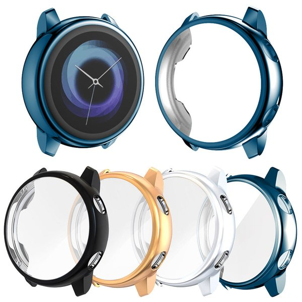 For Samsung Galaxy Watch Active 40mm SM-R500 Case Screen Protector Light Full Cover Thin Soft Tpu Frame Bumper Accessories