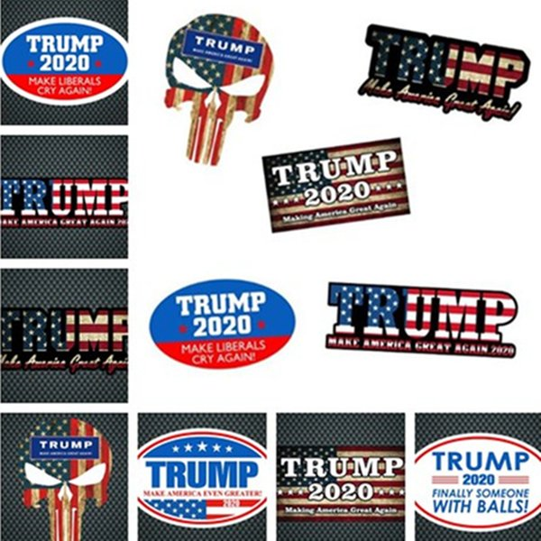 New hot-selling fashion and beautiful TRUMP2020 sticker Car sticker color multi-style high quality Reflective Wall Stickers T7I5036