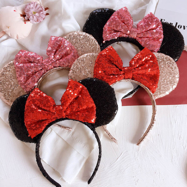 Cute baby designer headband birthday party Girls designer headbands glisten hair bows kids Hair Sticks princess baby girl headbands A4189